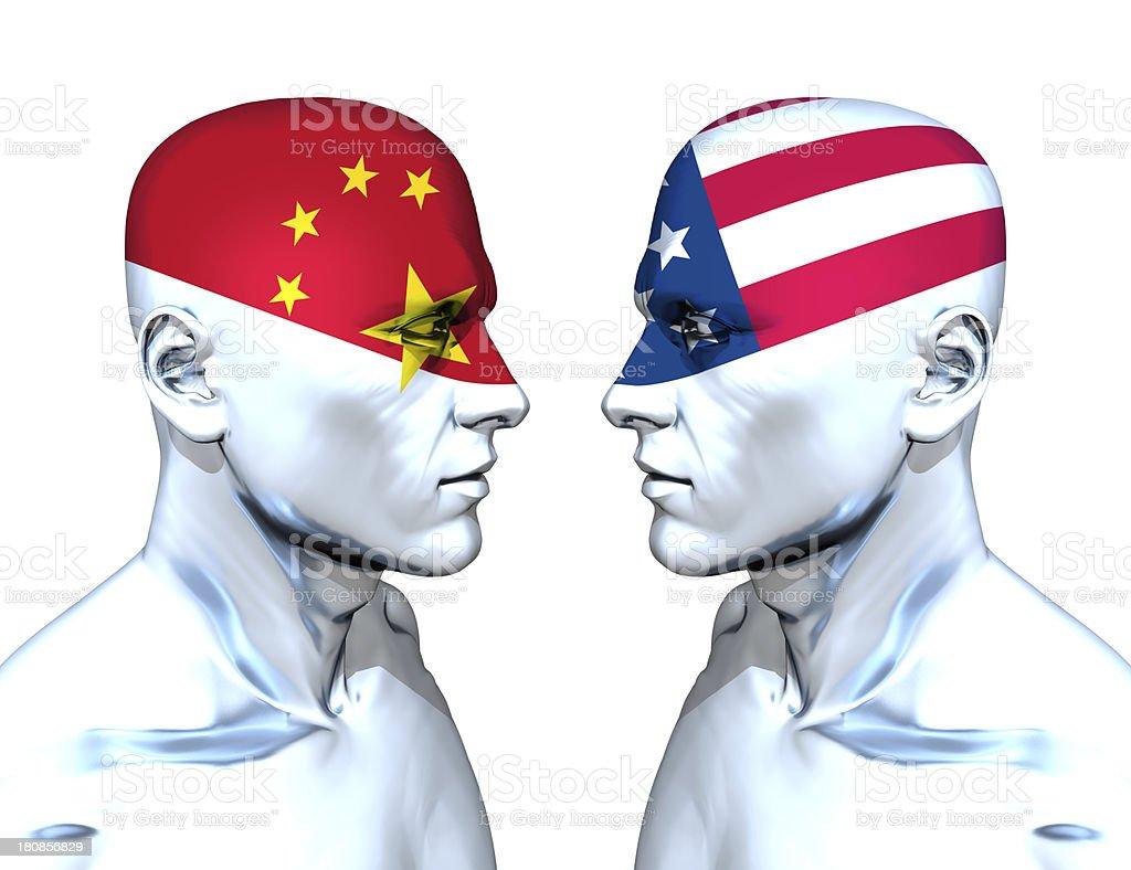 China vs USA stock photo