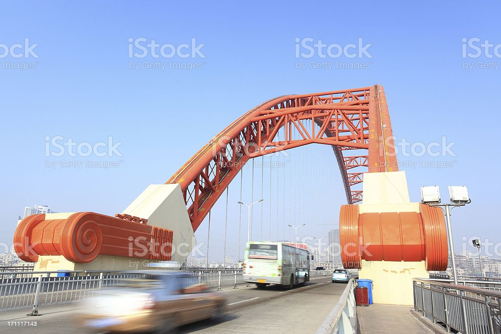 China WuHan Arch Bridge royalty-free stock photo