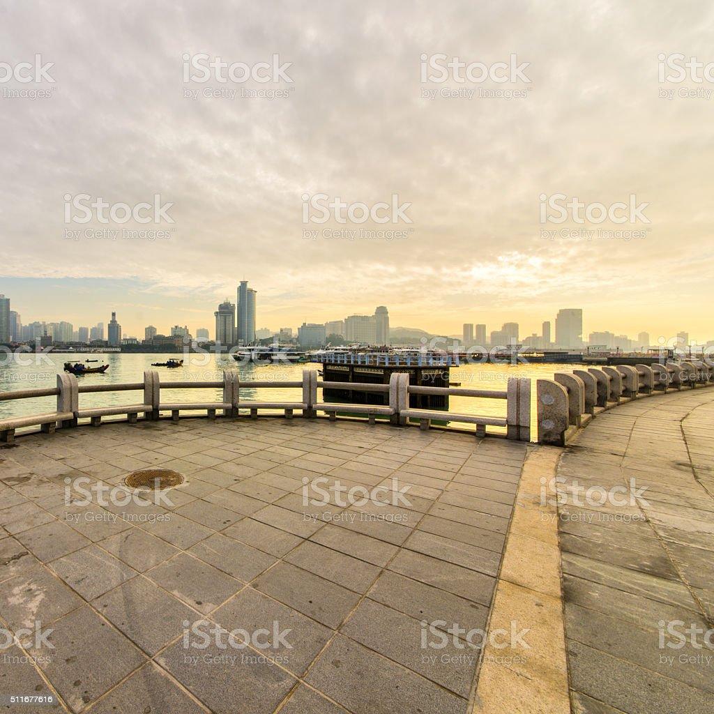 China Xiamen skyline stock photo