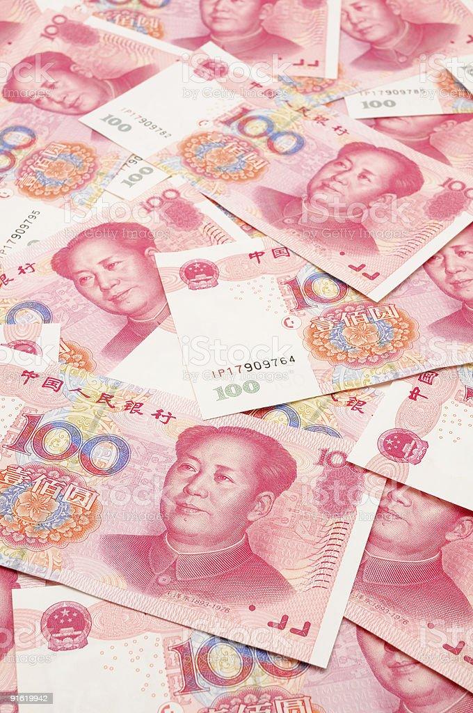 China yuan background royalty-free stock photo