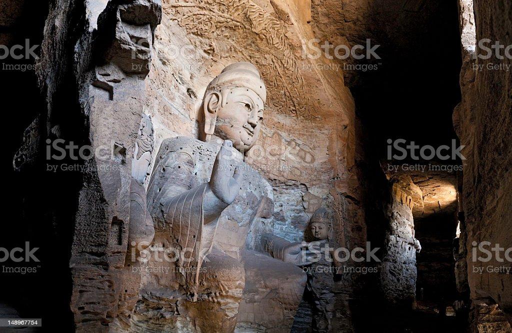China Yungang giant Buddha caves stock photo