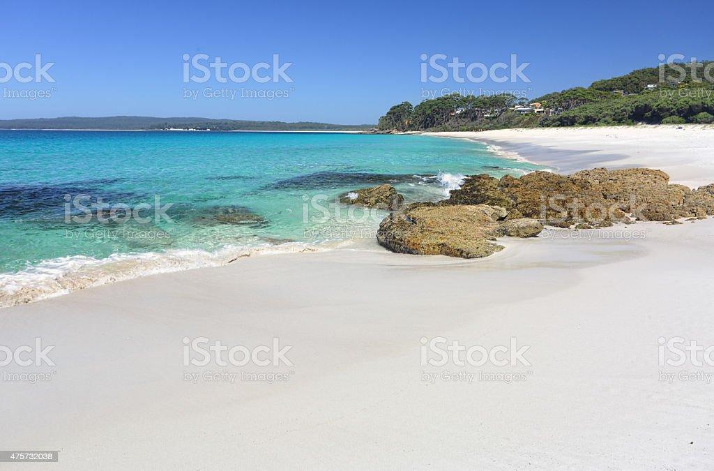 Chinamans Beach Jervis Bay a paradise stock photo