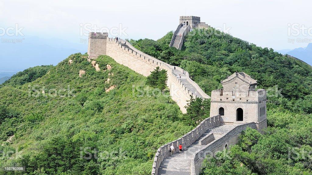 Chinas Great Wall royalty-free stock photo