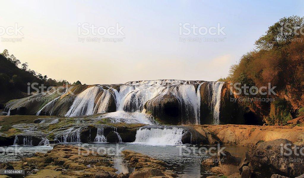 China's guizhou province guiyang huangguoshu waterfall royalty-free stock photo