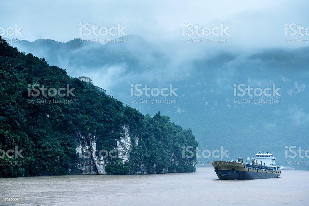 China's largest rivers: the Yangtze stock photo