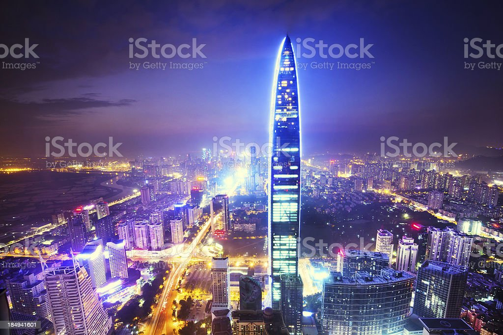 China's Megacity Shenzhen royalty-free stock photo