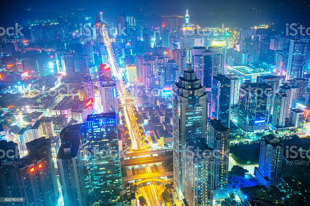 China's Megacity Shenzhen stock photo