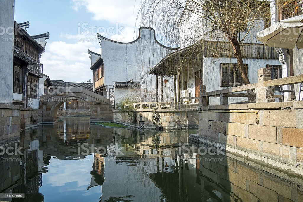 China's oldest residential areas in Wuzhen,zhejiang,china stock photo