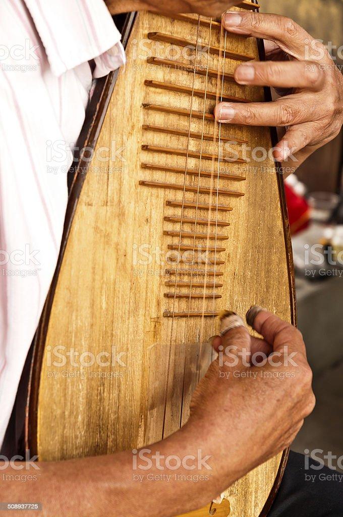 China's pipa Musical Instruments stock photo
