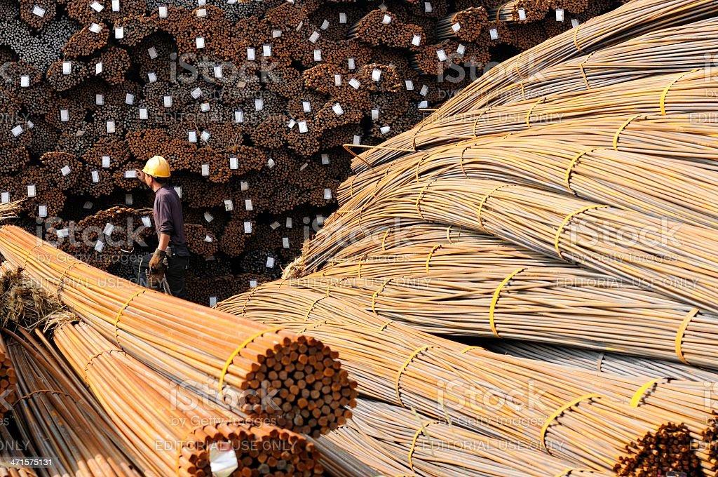 China's steel market stock photo
