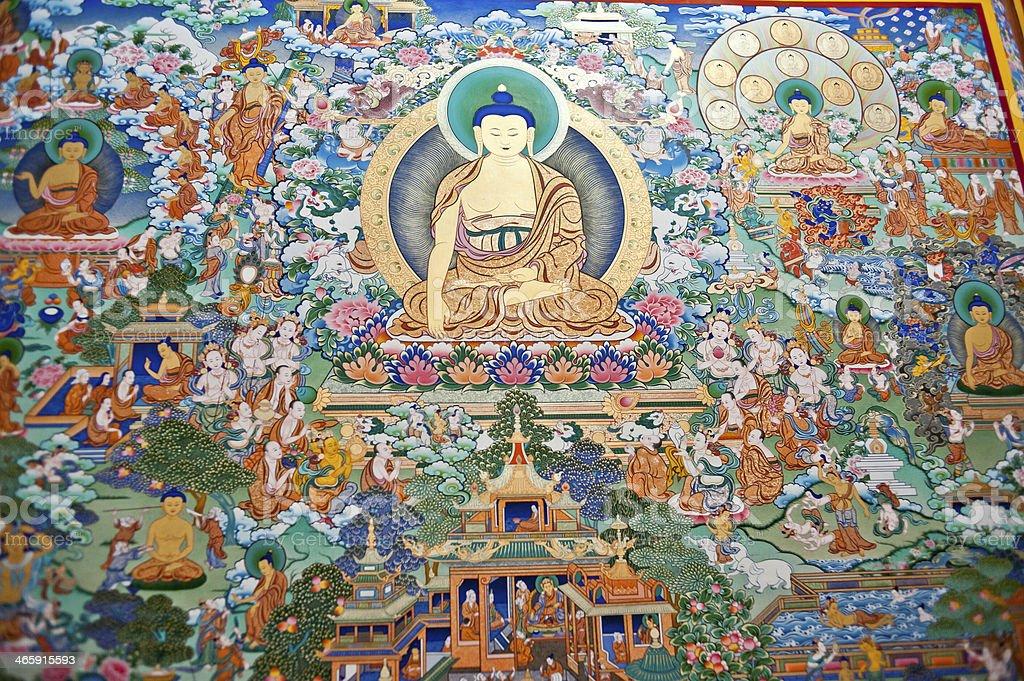 China's Tibet thangka paintings stock photo