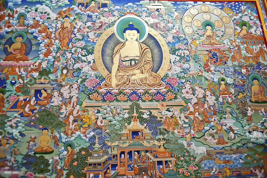 China's Tibet thangka paintings stock photo