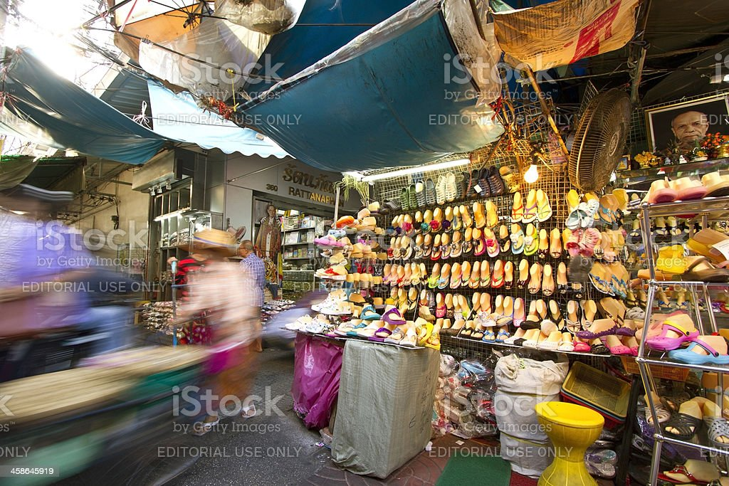 Chinatown alley in Bangkok royalty-free stock photo