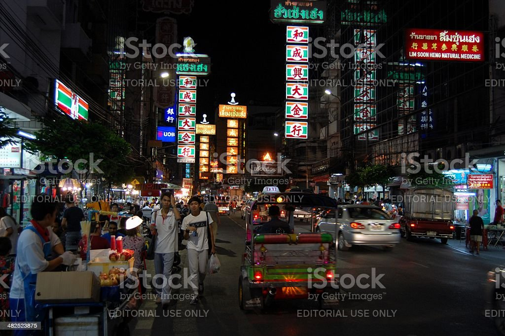 Chinatown Bangkok, Thailand royalty-free stock photo