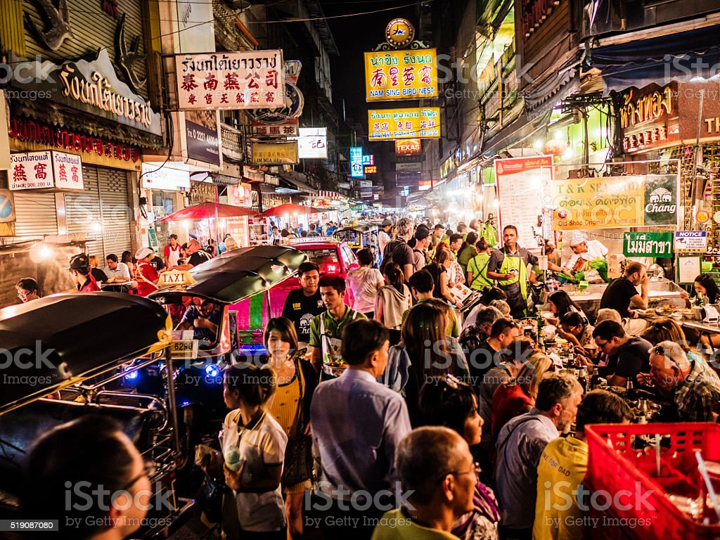 Chinatown Bangkok Thailand stock photo
