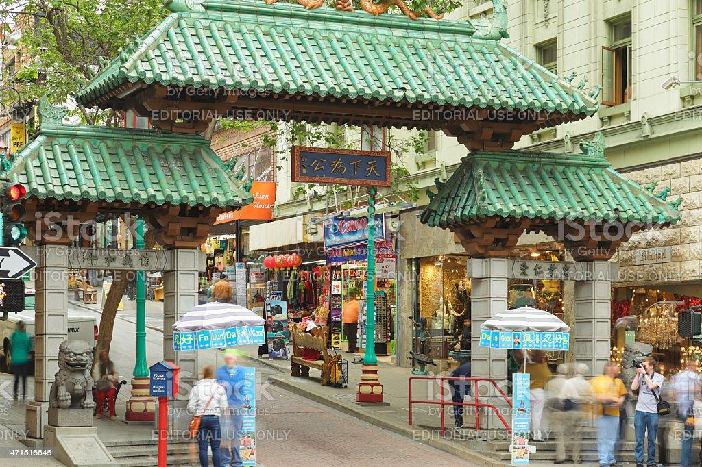 Chinatown Dragon Gate - San Francisco royalty-free stock photo