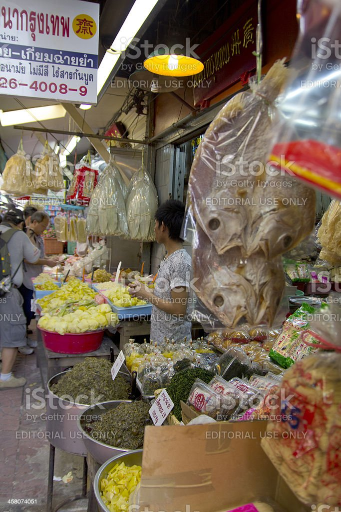 Chinatown food market in Bangkok royalty-free stock photo