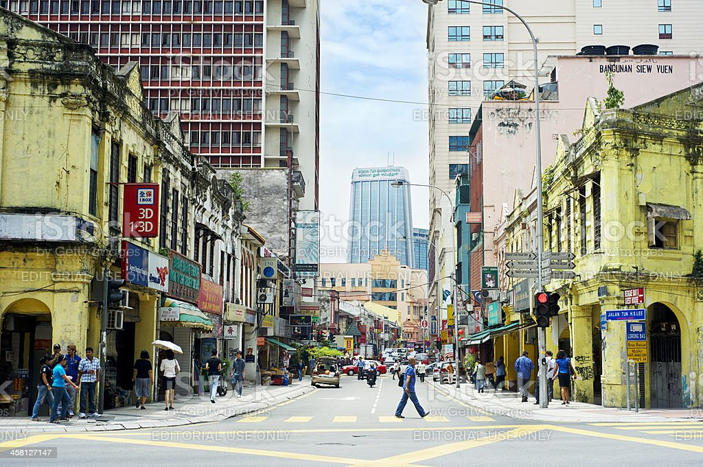 Chinatown in KL royalty-free stock photo