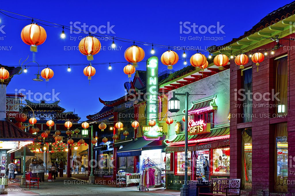 Chinatown In Los Angeles stock photo