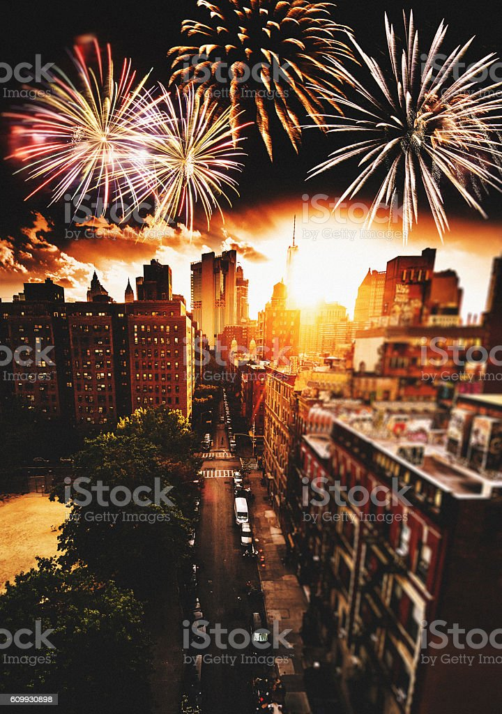 chinatown in manhattan for the new year stock photo