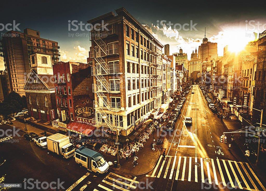 chinatown in manhattan stock photo