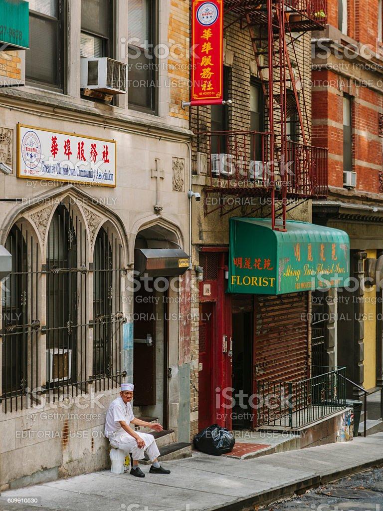 Chinatown in New York stock photo