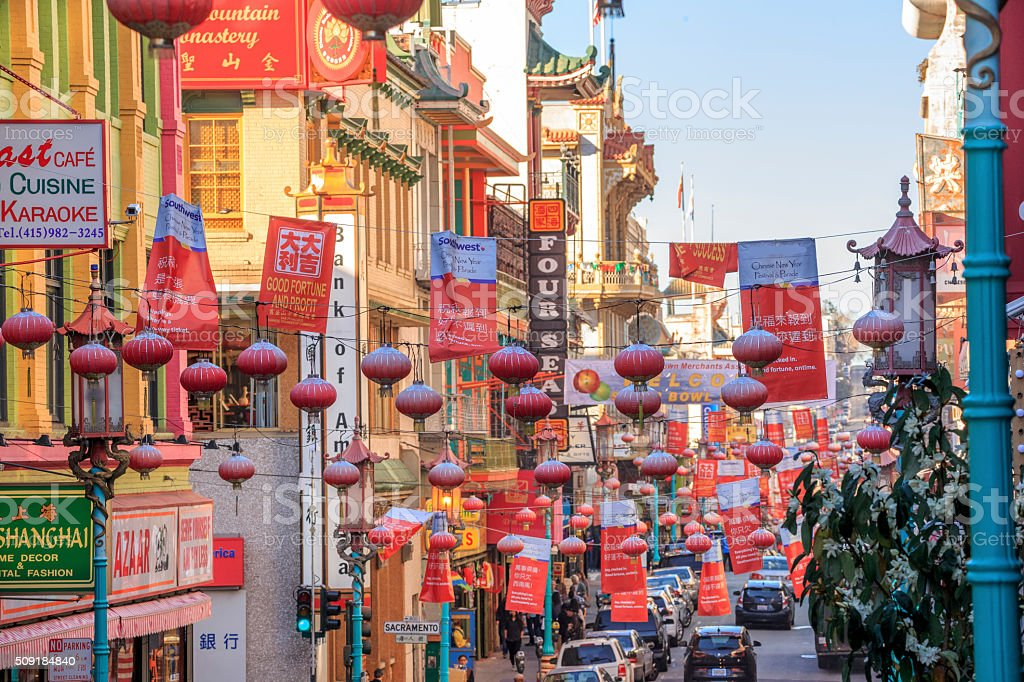 Chinatown in San Francisco, California stock photo
