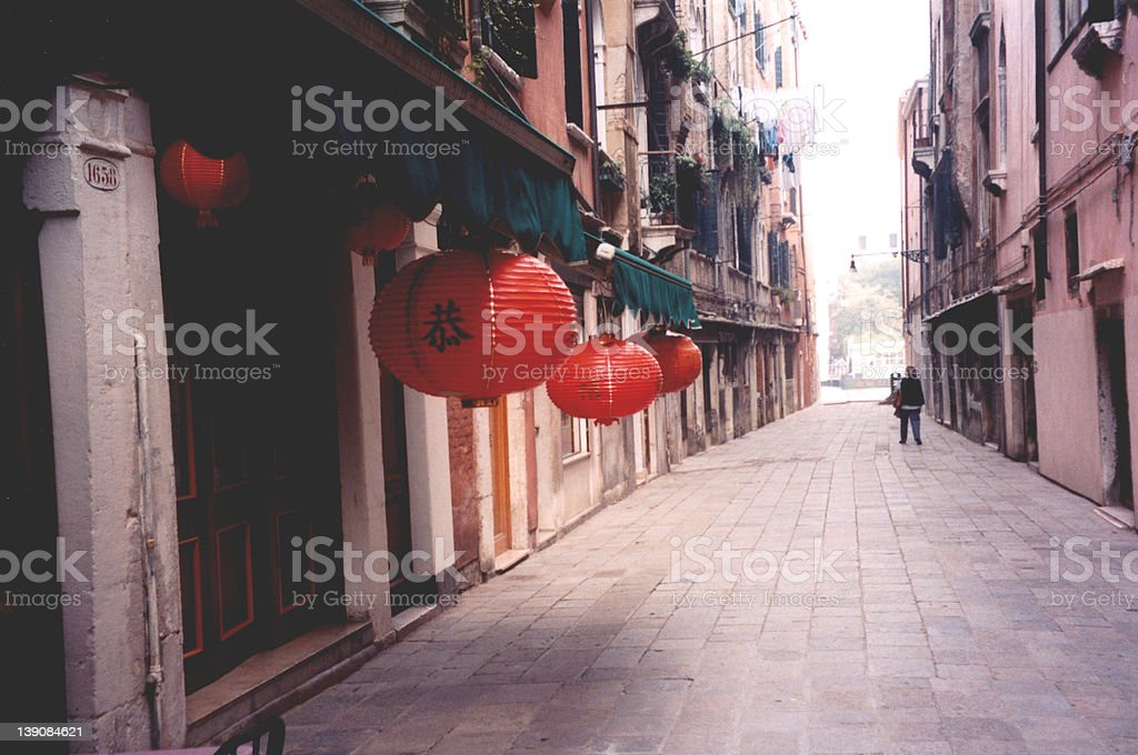 Chinatown in Venice Italy royalty-free stock photo