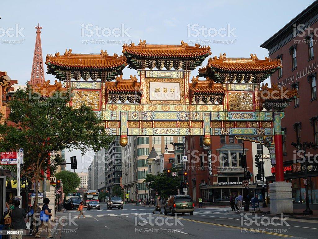 Chinatown in Washington DC stock photo