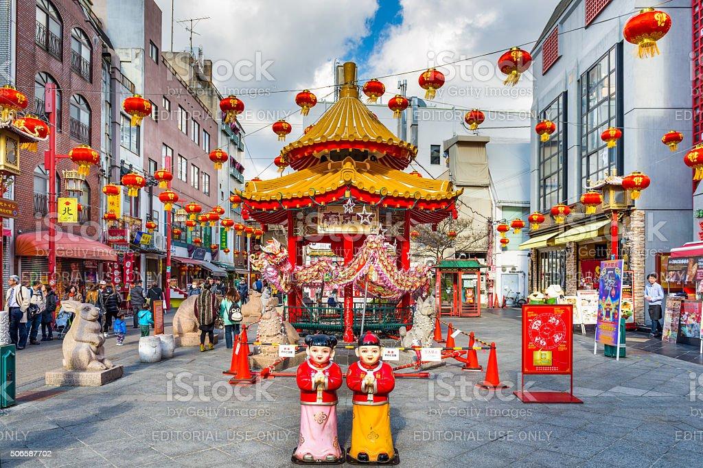 Chinatown, Kobe, Japan stock photo