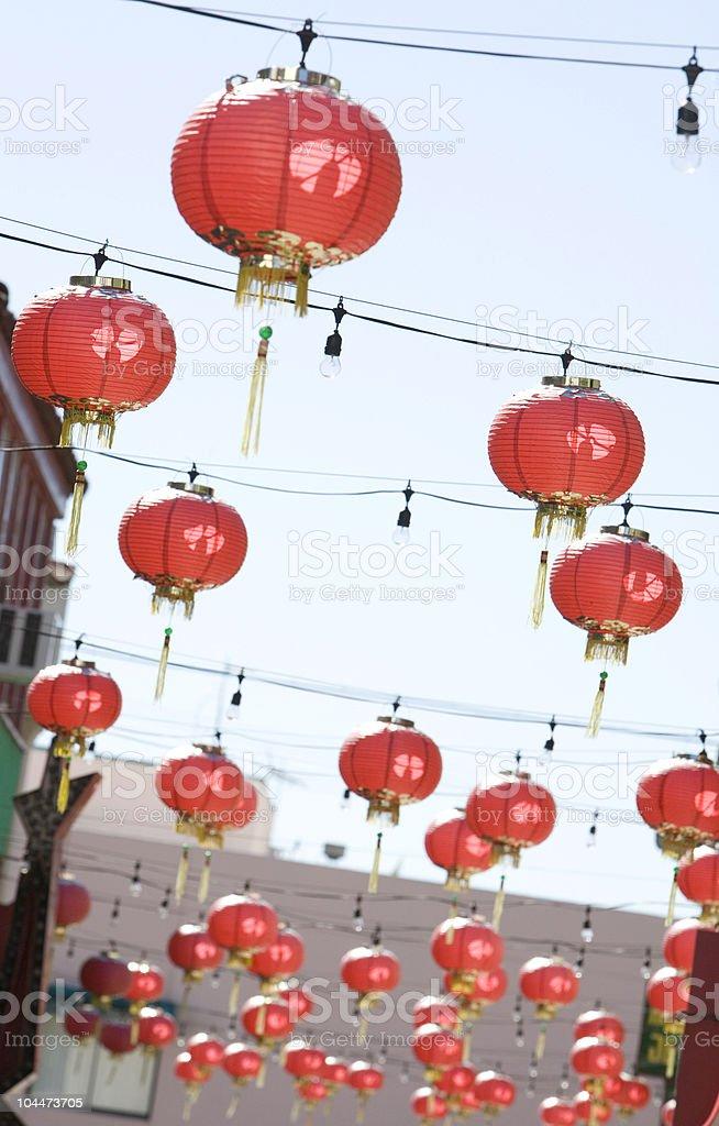 Chinatown Lanterns stock photo