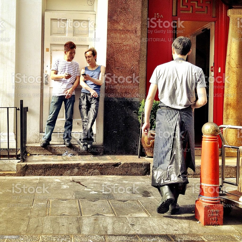 Chinatown, London. stock photo