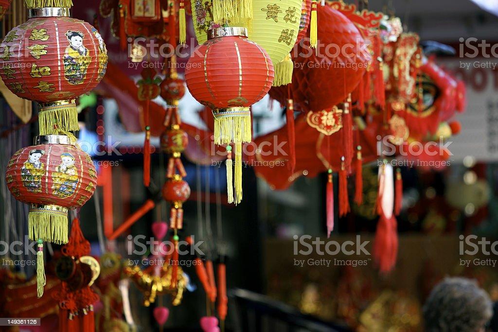Chinatown market store stock photo