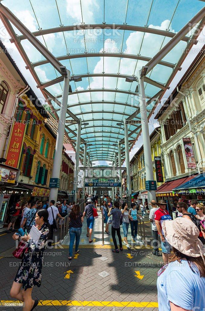 Chinatown MRT Station stock photo