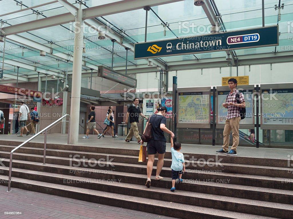 Chinatown MRT Train Station, Singapore stock photo