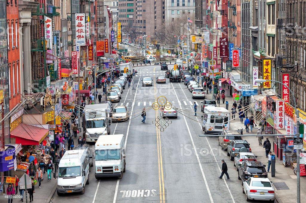 Chinatown, New York City stock photo