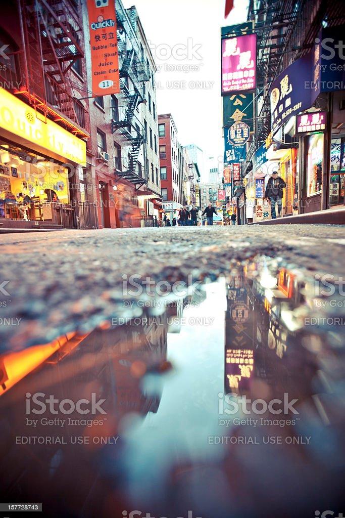Chinatown reflection. royalty-free stock photo