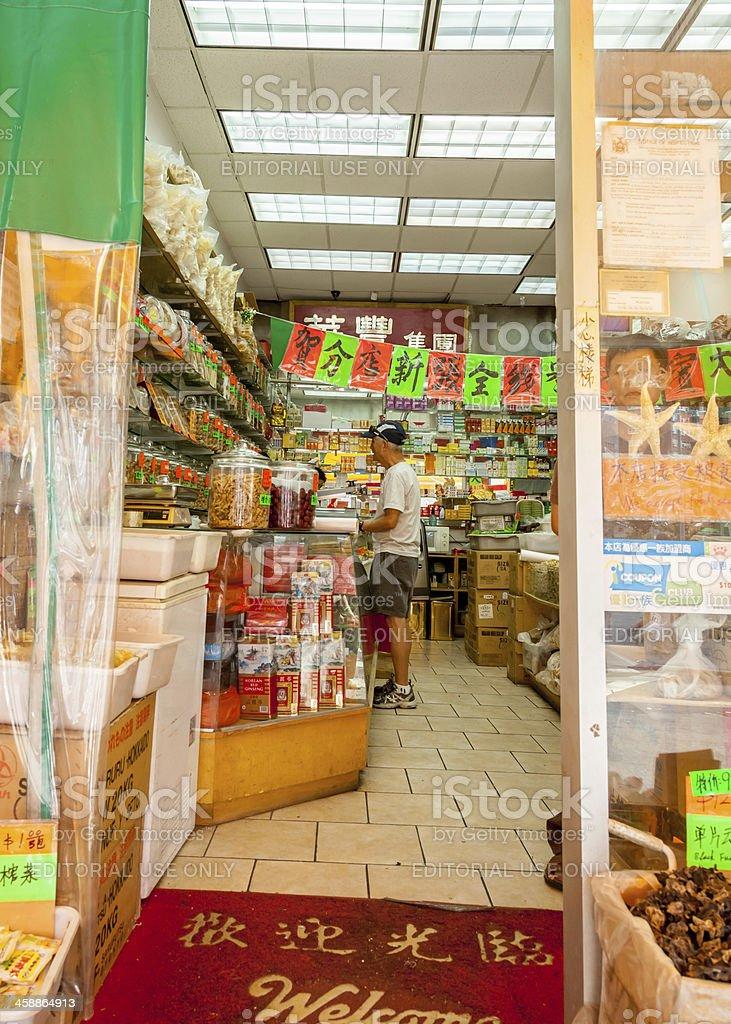 Chinatown Shop Customer royalty-free stock photo
