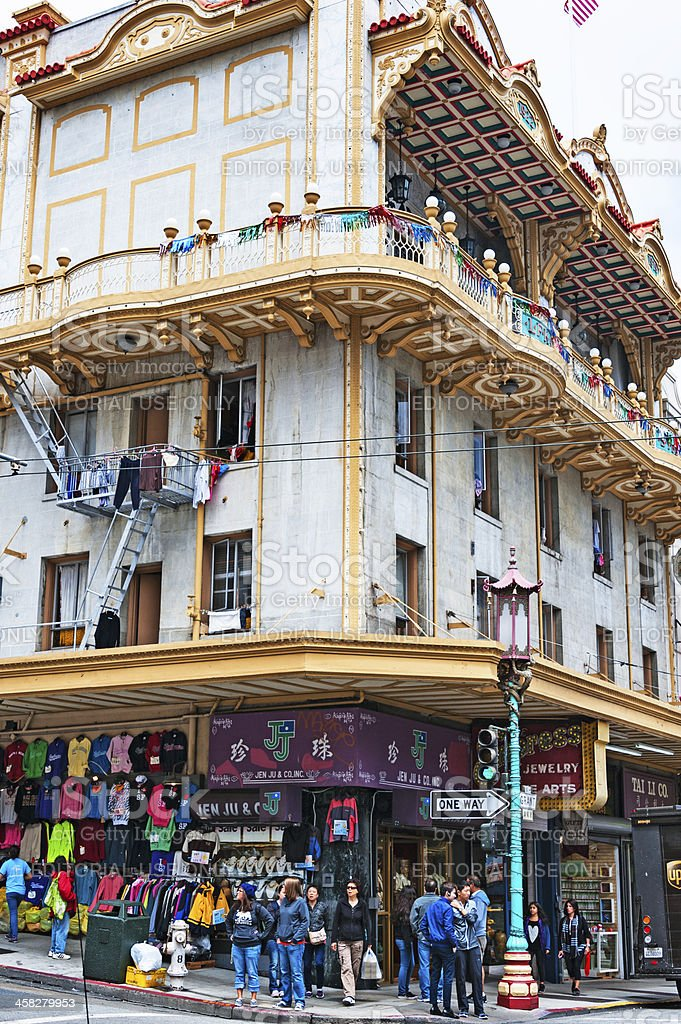 Chinatown Shopping San Francisco stock photo