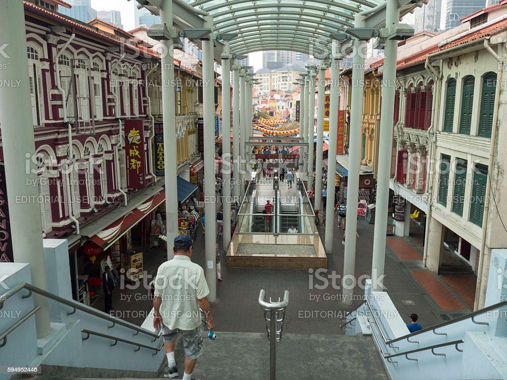 Chinatown Singapore stock photo