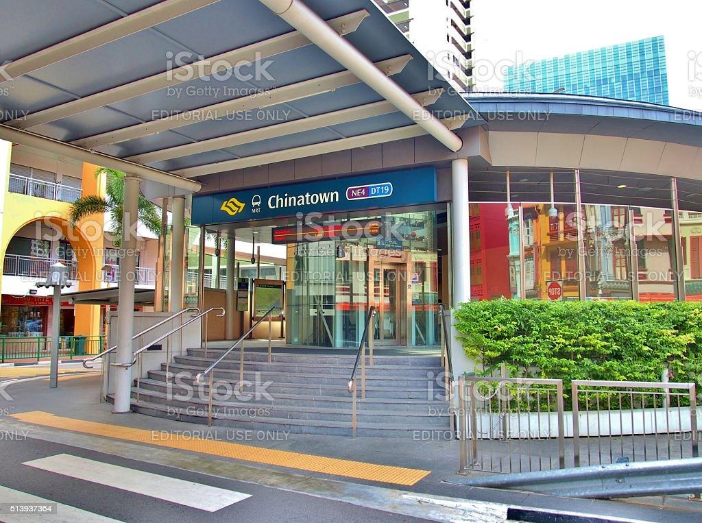 Chinatown station - MRT Station in Singapore. stock photo