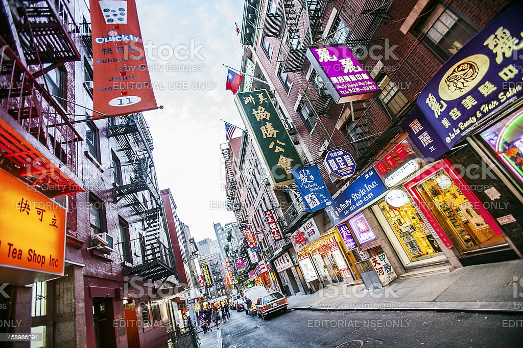 Chinatown streets. stock photo
