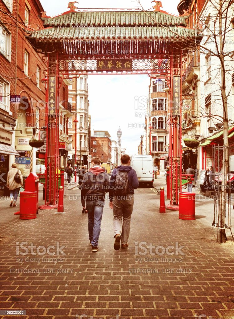 Chinatown Tourists royalty-free stock photo