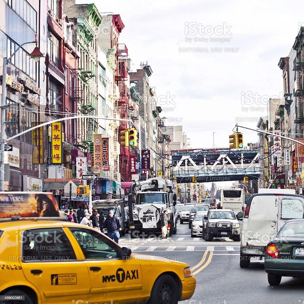 Chinatown traffic. stock photo