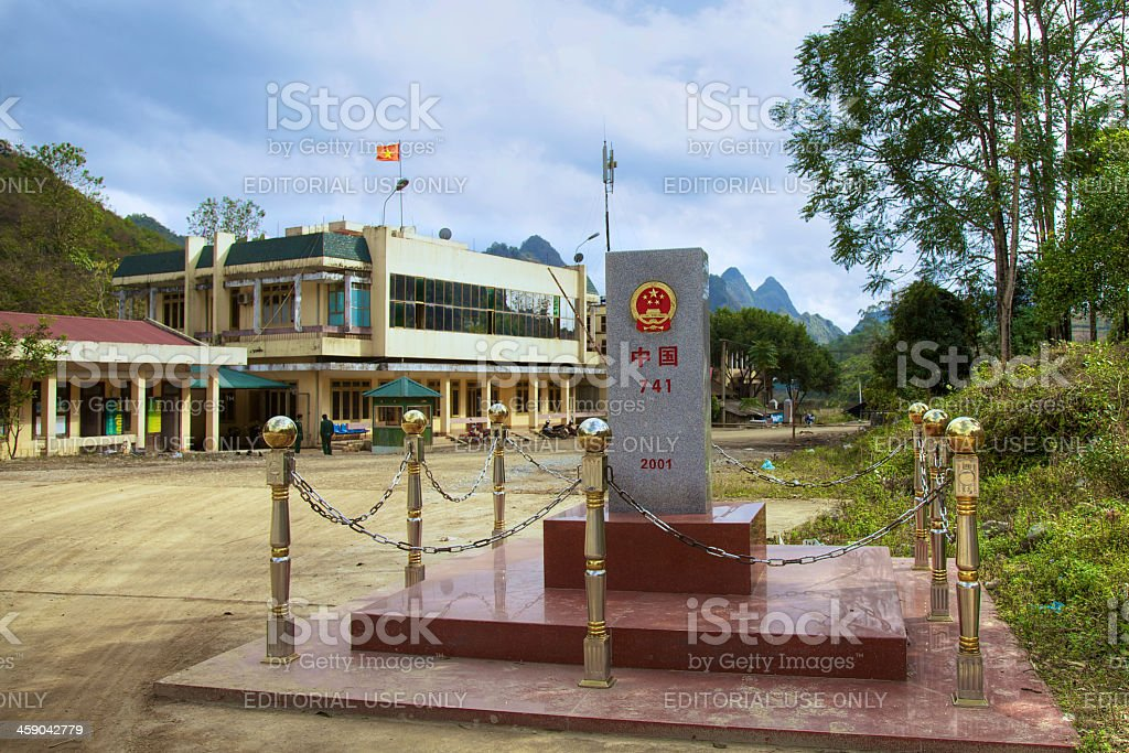 China-Vietnam border port stock photo