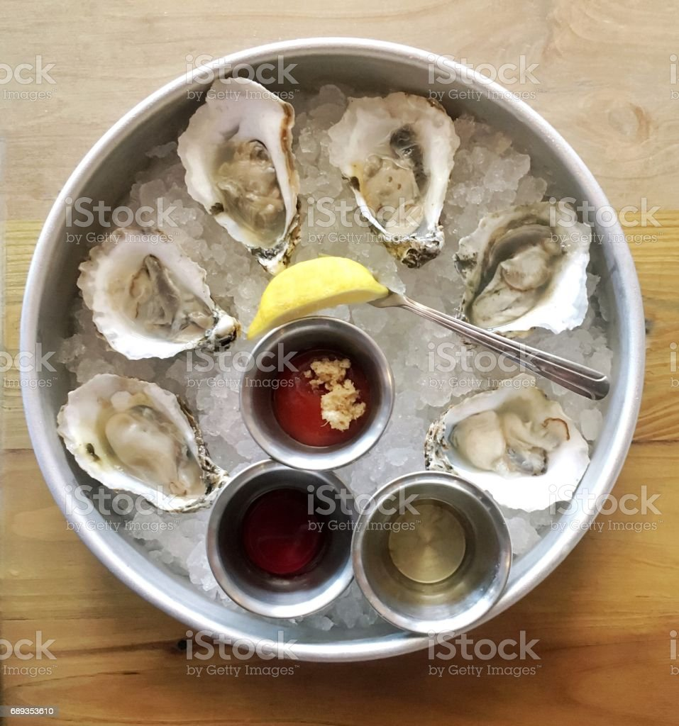 Chincoteague Oysters stock photo