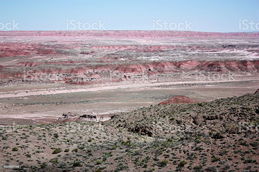 Chinde Point in Petrified Forest National Park in Arizona, USA stock photo