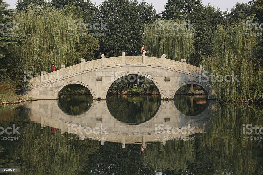 Chineese bridge stock photo