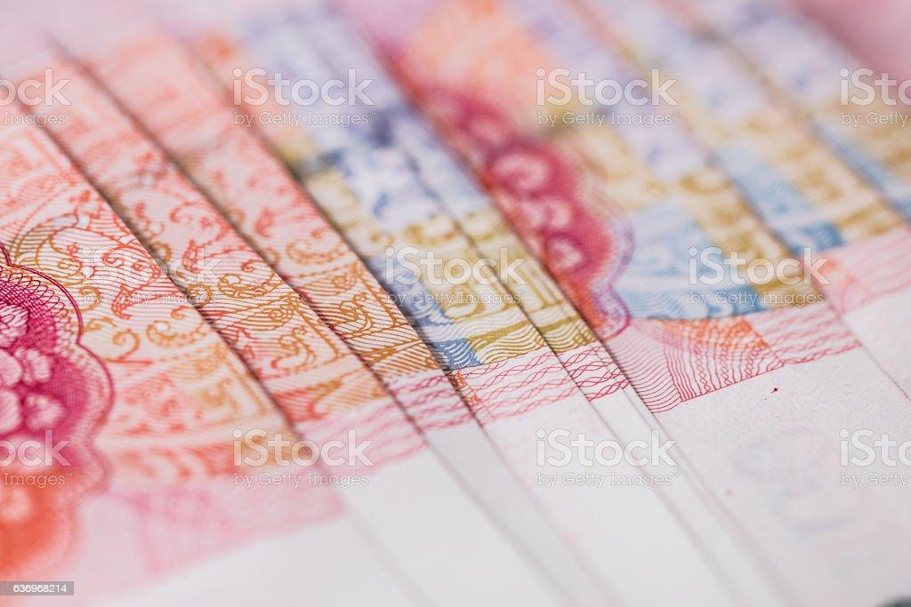 Chines Renminbi Banknotes CNY stock photo