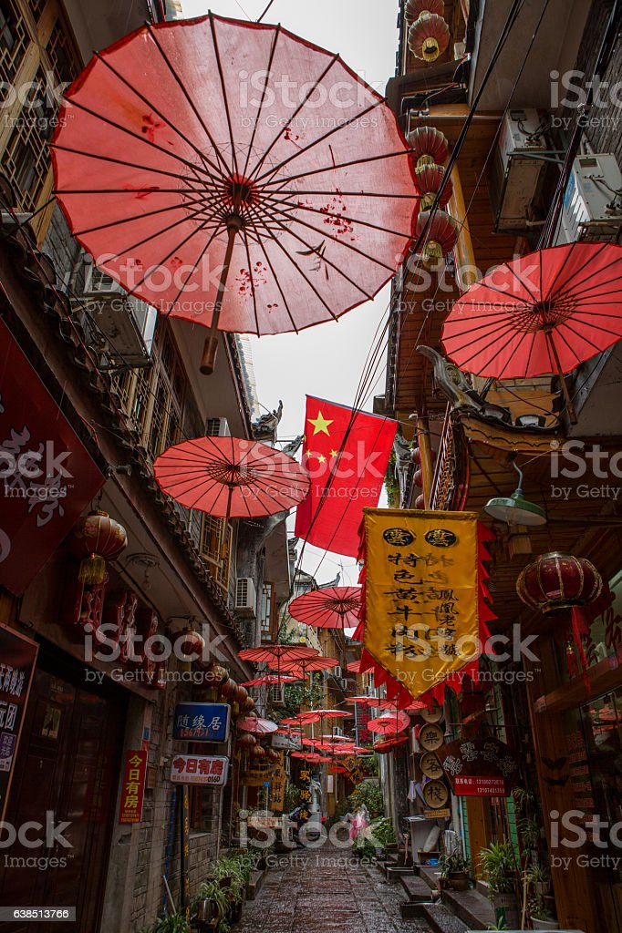Chinese alley, China stock photo